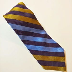 Lee Allison 4 Hands Striped Pattern Tie